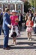 De koninklijke familie is in Zwolle voor de viering van Koningsdag. /// The royal family is in Zwolle for the celebration of King's Day.<br /> <br /> Op de foto / On the photo:  Koning Willem-Alexander en Koningin Maxima / King Willem Alexander and Queen Maxima
