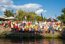 Runners at Adidas Bridge Run across river Ljubljanica, on September 8, 2018 in Ljubljana, Slovenia. Photo by Vid Ponikvar / Sportida