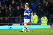 Seamus Coleman of Everton celebrates after scoring his teams 1st goal to make the score 1-1. Premier league match, Everton v Swansea city at Goodison Park in Liverpool, Merseyside on Saturday 19th November 2016.<br /> pic by Chris Stading, Andrew Orchard sports photography.