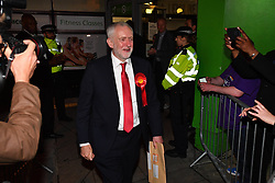 June 9, 2017 - London, London, United Kingdom - Image ©Licensed to i-Images Picture Agency. 09/06/2017. London, United Kingdom. Jeremy Corbyn house. Leader of Labour Party Jeremy Corbyn leaves Sobell leisure centre after winning his seat  .  Picture by Andrew Parsons / i-Images (Credit Image: © Andrew Parsons/i-Images via ZUMA Press)