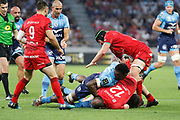 Thibaut Regard of Lyon and Liam Gill of Lyon during the French championship Top 14 Rugby Union semi-final match between Montpellier v Lyon OU on May 25, 2018 at Groupama stadium in Lyon, France - Photo Romain Biard / Isports / ProSportsImages / DPPI