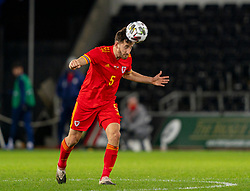 SWANSEA, WALES - Thursday, November 12, 2020: Wales' Tom Lockyer during an International Friendly match between Wales and the USA at the Liberty Stadium. (Pic by David Rawcliffe/Propaganda)