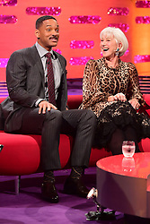 Will Smith and Dame Helen Mirren appearing on the Graham Norton Show filmed at the London Studios. London, which will be transmitted on BBC One on December 23.