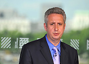 © licensed to London News Pictures. LONDON, UK.  11/07/11. Ivan Lewis Shadow minister for Culture. Ed Miliband gives his monthly press conference at The Royal Festival Hall. He was joined by Ivan Lewis the Shadow Culture Secretary to take questions on the News of The World story. Mandatory Credit Stephen Simpson/LNP