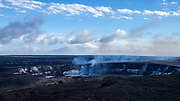 Our first stop, the Jagger Museum along the crater rim drive o see the Halema'uma'u Crater.