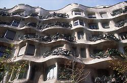 Building designed by Gaudi; in Barcelona; Catalunya,