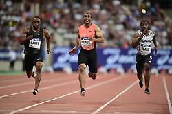 June 30, 2018 - Paris, France, France - Ronnie Baker (usa) / Jimmy Vicaut (Fra) / Yohan Blake (Jam) - 100m (Credit Image: © Panoramic via ZUMA Press)