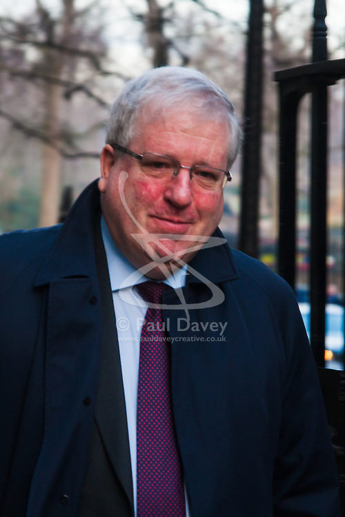 Downing Street, London, January 20th 2015. Ministers attend the weekly cabinet meeting at Downing Street. PICTURED: Patrick McLoughlin MP, Secretary of State for Transport