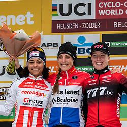 26-12-2019: Cycling: CX Worldcup: Heusden-Zolder: Lucinda Brand wins the worldcup race ahead of Ceylin Alvarado, Annemarie Worts ends up third