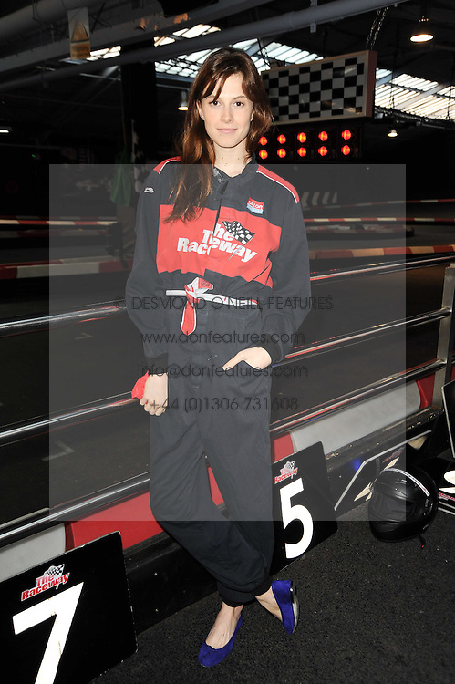 ELETTRA WIEDEMANN daughter of Isabella Rossellini at an evening of go-karting hosted by Tag Heuer at Docklands Raceway, 3 Herringham Road, London SE7 on 16th June 2010.