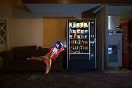 USA, Oregon, Motel lobby,American Dreamscapes Shilo Inn