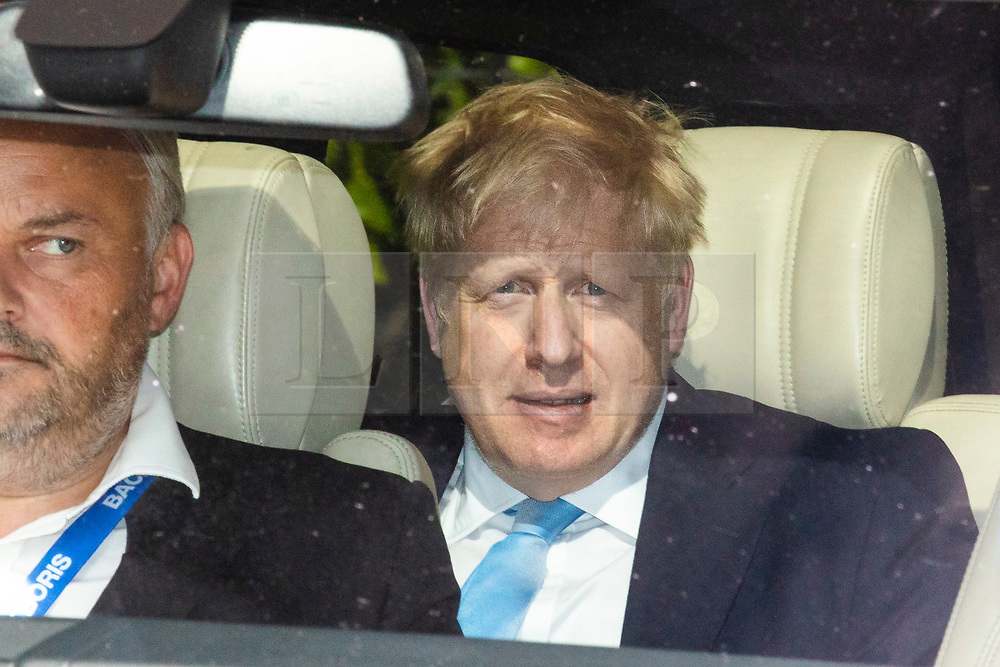 © Licensed to London News Pictures. 20/06/2019. London, UK. Former Foreign Secretary Boris Johnson, the frontrunner in the Conservative Party leadership contest, leaves Parliament after the second leadership contest vote. The final two candidates will be put to the party membership in a ballot. Photo credit: Rob Pinney/LNP