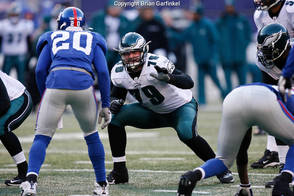 11 Jan 2009: Philadelphia Eagles offensive tackle Todd Herremans #79 during the game against the New York Giants on January 11th, 2009.  The  Eagles won 23-11 at Giants Stadium in East Rutherford, New Jersey.