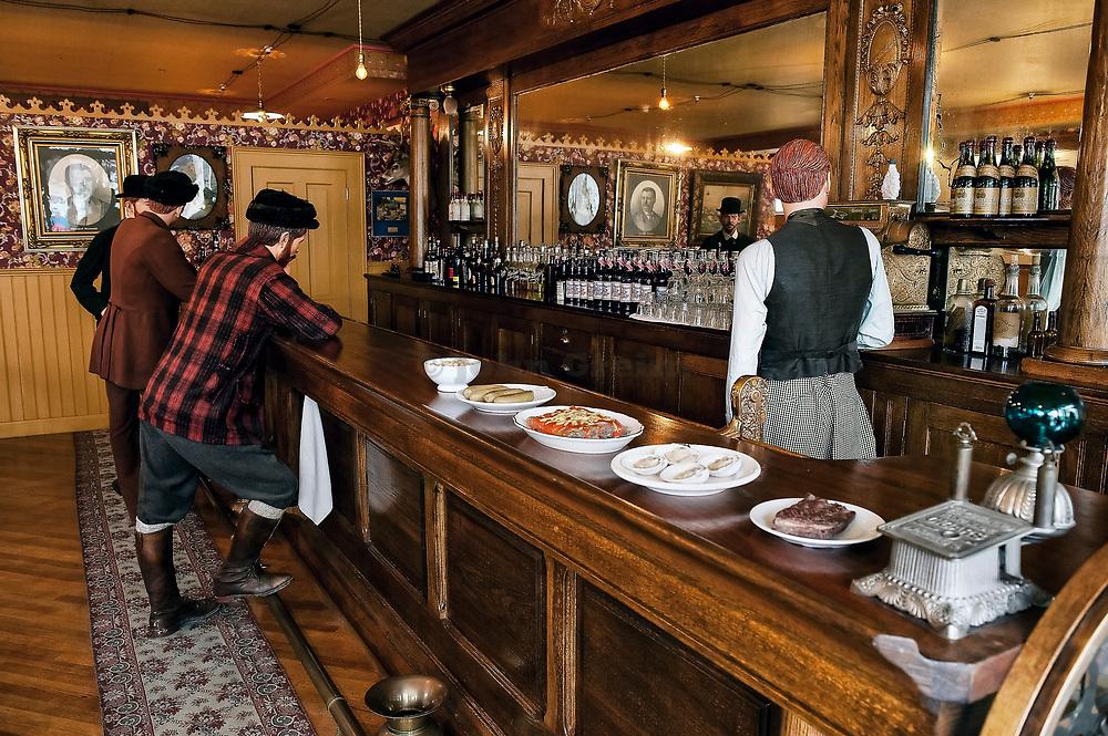 Restored Mascot Saloon Exhibit and Moore House, Skagway, Alaska
