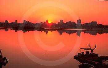 PA landscapes, Susquehanna River, Harrisburg skyline, sunrise