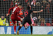 Roberto Firmino of Liverpool scores in extra time to take the lead during the UEFA Champions League match at Anfield, Liverpool. Picture date: 11th March 2020. Picture credit should read: Darren Staples/Sportimage