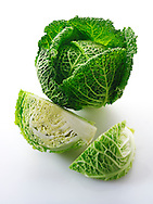 Fresh whole Curly Cabbage