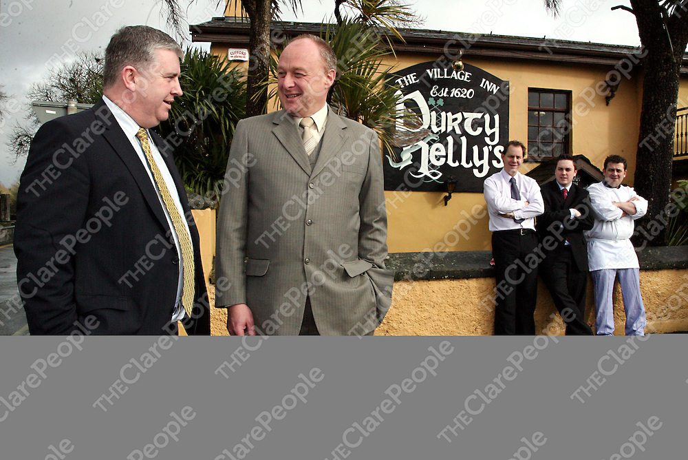 Durty Nelly's new management team Maurice Walsh - director of operations, Garry O' Toole - general manager, Paul Glover - assistant mananger, Anthony Gaffney - Crystal Partners project consultant and Richard Baines - second chef.<br /><br />Photograph by Yvonne Vaughan.