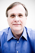 Paul Allen, Co-Founder of Microsoft, Chairman of Vulcan Inc.  Photographed by Brian Smale for Time Magazine, at Vulcan's Seattle headquarters. photo, photograph, portrait, picture, image