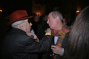 George Melly and Mel Gooding, Maggi Hambling The Works, and Conversations with ?Andrew Lambirth. the Polish Club. 18 January 2006.  ONE TIME USE ONLY - DO NOT ARCHIVE  © Copyright Photograph by Dafydd Jones 66 Stockwell Park Rd. London SW9 0DA Tel 020 7733 0108 www.dafjones.com