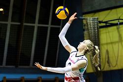 Klara Milosic of Nova KBM Branik during 3rd Leg Volleyball match between Calcit Volley and Nova KBM Maribor in Final of 1. DOL League 2020/21, on April 17, 2021 in Sportna dvorana, Kamnik, Slovenia. Photo by Matic Klansek Velej / Sportida