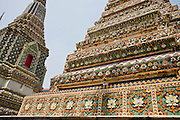 29 FEBRUARY 2008 -- BANGKOK, THAILAND:  Stupas at Wat Phra Chetuphon, which is more commonly known by its old name of Wat Po. It is both the largest and older Buddhist Temple in Bangkok. It  was founded in the 17th century and covers about 20 acres.   Photo by Jack Kurtz