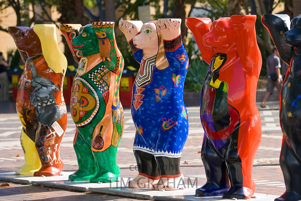 Unicef charity fundraising United Buddy Bears on display in Sydney, New South Wales, Australia