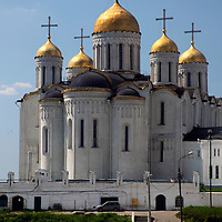Europe, Russia. Vladimir. Cathedral of the Dormition of the Theotokos.