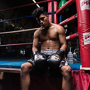 Boxing Life: Raul Salomon.  Lifestyle photoshoot with Raul Salomon at Grampa's Boxing Gym in Westminster, California on December 16, 2017.  ©Michael Der, All Rights Reserved.  Please contact Michael Der for all licensing requests.