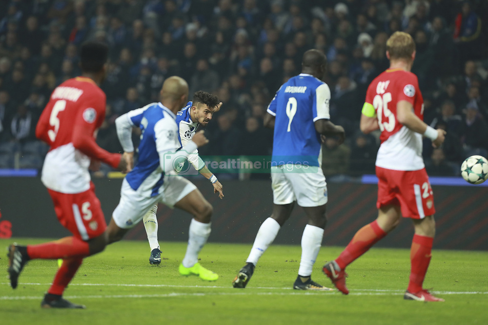 December 6, 2017 - Na - Porto, 06/12/2017 - Football Club of Porto received, this evening, AS Monaco FC in the match of the 6th Match of Group G, Champions League 2017/18, in Estádio do Dragão. Alex Telles scores goal  (Credit Image: © Atlantico Press via ZUMA Wire)