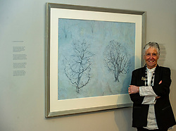 Pictured: Victoria Crowe OBE in front of Garden Full of Snow<br /> <br /> Another Time, Another Place at The Scottish Gallery - an exhibition of works by renowned artist Victoria Crowe OBE which have inspired 12 poems by poet Christine De Luca<br /> <br /> Ger Harley   EEm 29 April 2021