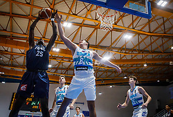Diabate  Moussa of France vs Prepelic  Bine of Slovenia during basketball match between National teams of Slovenia and France in the Group Phase C of FIBA U18 European Championship 2019, on July 27, 2019 in Nea Ionia Hall, Volos, Greece. Photo by Vid Ponikvar / Sportida