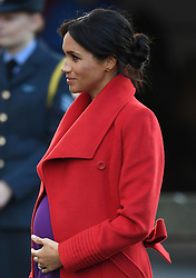 Prince Harry and Meghan Markle visit Hamilton Square in Birkenhead to view a sculpture of poet Wilfred Owen and to meet the people of Birkenhead, Merseyside, UK, on the 14th January 2019. 14 Jan 2019 Pictured: Meghan Markle, Duchess of Sussex. Photo credit: James Whatling / MEGA TheMegaAgency.com +1 888 505 6342