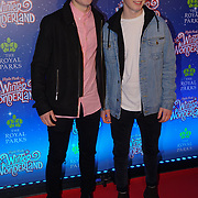 London, England, UK. 16th November 2017. x Factor - Sean Price,Conor Price attend the VIP launch of Hyde Park Winter Wonderland 2017 for a preview. tomorrow is opening for the public