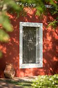 Exterior detail of window bars, Estancia La Bamba De Areco, Pampas, Argentina, South America