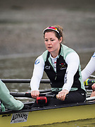 London. UNITED KINGDOM.   Tideway Week. THE CANCER RESEARCH UK BOAT RACES. 163rd Men's Boat Race and The 72nd Women's Boat Race on the Championship Course, River Thames, Putney/Mortlake.  Wednesday  29/03/2017    [Mandatory Credit. Intersport Images]<br /> <br /> Cambridge, Stroke Melissa Wilson,