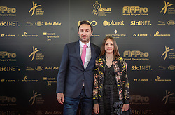 Damjan Medica with his daughter during SPINS XI Nogometna Gala 2019 event when presented best football players of Prva liga Telekom Slovenije in season 2018/19, on May 19, 2019 in Slovene National Theatre Opera and Ballet Ljubljana, Slovenia. ,Photo by Urban Meglic / Sportida