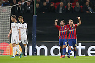 CSKA Moscow's Alan Dzagoev celebrates scoring his sides opening goal during the Champions League group match at Wembley Stadium, London. Picture date December 7th, 2016 Pic David Klein/Sportimage