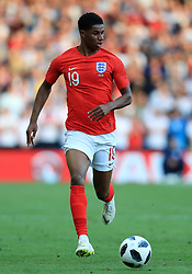 England's Marcus Rashford during the International Friendly match at Elland Road, Leeds