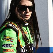 Stock car driverDanica Patrick  during warm ups for the 2010 Daytona 500 race at the Daytona International Speedway on February 10, 2010 in Daytona Beach, Florida. (AP Photo/Alex Menendez)
