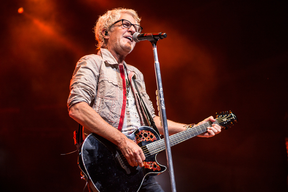 REO Speedwagon perform at Summerfest in Milwaukee, WI on July 6, 2017.