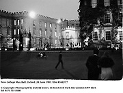 New College May Ball. Oxford. 24 June 1983. film 83442f17<br />© Copyright Photograph by Dafydd Jones<br />66 Stockwell Park Rd. London SW9 0DA<br />Tel 0171 733 0108