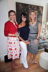 Left to right, TASMIA HART, JACKIE ST.CLAIR and TANIA ROSE at a party hosted by Maria Hatzistefanis to celebrate the publication of Santa Montefiore's new book 'The Affair' held at 35 Walpole Road, London on 27th April 2010.