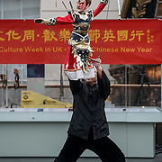 "London,England,UK. 28th January 2017: Hundreds of local addtedees the Chinese Culture Office,Embassy of the People's Republic of China in the UK ""Xiang Xiaowei host a spectacle puppets show an hour and a hlaf long for the Chinese New Year: Guangzhou Art Troupe at National Maritime Museum,London,UK. by See Li"