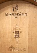 barrel with stamp magrenan , Bodegas Otero, Benavente spain castile and leon