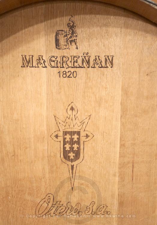 barrel with stamp magrenan , Bodegas Otero, Benavente spain castile and leon