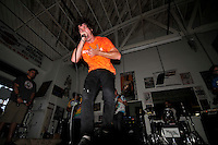 Singer Dillon Costello from Monterey's Windows of Lucidity levitates. In a well-attended, all-ages music event organized by Salinas' own In Your Face Productions, five area metal bands played their hearts out on Saturday night at the Rock Boxing Gym on East Alisal Street.