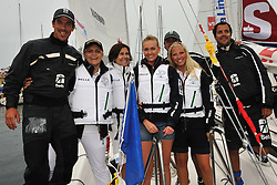 Sigrid Bernson and Malin Johansson, stars of Let's Dance join Tina Thorner (Former Raly Driver) and Alvaro Marinho for the Celebrity Race at the Stena Match Cup 11. Photo: Chris Davies/WMRT