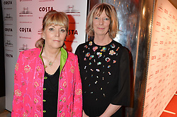 Left to right, KATE ATKINSON winner of the Costa Novel Award and LUCY HUGHES-HALLETT winner of the Costa Biography Award at the Costa Book Awards 2013 held at Quaglino's, 16 Bury Street, London on 28th January 2014.