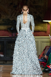 Model walks on the runway during C.Colectare fashion show during Select Fashion Awards at Musée Jacquemart-Andre during Spring/Summer 2018 ready to wear collection in Paris, France, October 01 2017. Photo by Nasser Berzane/ABACAPRESS.COM